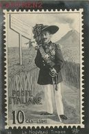 CARICATURE ITALIE POSTE ITALIANE MACARONI VICTOR-EMMANUEL II ETNA POLITIQUE GUERRE SATIRIQUE STAMP SATIRICA POLITICA - Satirical