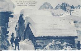 74 LE TOUR EN HIVER INTERIEUR DU VILLAGE VALLEE DE CHAMONIX MONT BLANC TAMPON FERROVIARE   Editeur COUTTET Auguste 42B - Chamonix-Mont-Blanc