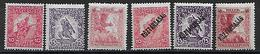 Ungarn 1916/18 Mi.- Nr. 183 - 185, 219 - 221   **/MNH - Nuevos