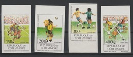 Côte D'Ivoire Ivory Coast 1994 Mi. 1101-1104 IMPERF ND FIFA World Cup Coupe Du Monde Football Fußball Soccer USA - 1994 – Estados Unidos