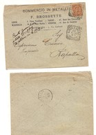 3147) Umberto 20c Isolato 1893 San Pier D'arena Genova Annullo Tondo Riquadrato Cover X Rapallo - 1878-00 Humbert I