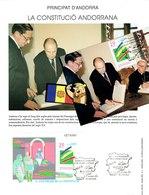 MAX ANDORRE LOT 2 DOC  MITERRAND  (LES 2 CO-pRINCEPS) 1994 - ENCART + MAX - Cartes-Maximum (CM)