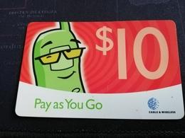 ST LUCIA   $10,- PAY AS YOU GO    Prepaid Fine Used Card  (NAME ST LUCIA ON BACK) ** 468** - Saint Lucia