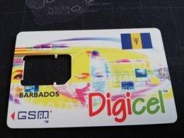 BARBADOS   $ --     MOBILE CHIP CARRIER  DIGICEL     Prepaid      Fine Used Card  ** 471** - Barbados