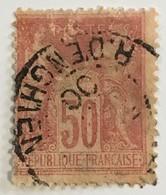 YT 104 (°) 1898-1900 Type SAGE (type III) 50 C Rose (côte 38) – Bleu2 - 1898-1900 Sage (Type III)