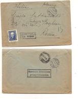 3247) Polonia Polska Registered Cover 1936 1 Presidente Moscicki Cover To Italy Difettoso - Storia Postale