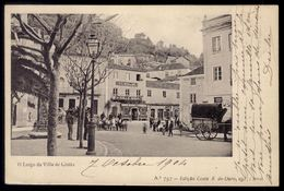 Postal Antigo LARGO Da VILLA De CINTRA C/Lojas CAFE Perola De Sintra HOTEL Ancora. Edição COSTA Lisboa PORTUGAL 1900s - Lisboa