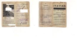 3260) POW TESSERA POTTERSHILL CAMP 1945 VITTORIA FOTO - Marcophilia