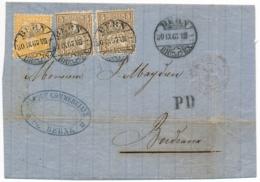 Zumstein 30+32 - 2 Farben Auslandfrankatur Faltbrief Gelaufen BERN Nach BORDEAUX - Stempel Gruppe 148 Elzevierschrift - Briefe U. Dokumente