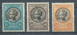 Luxembourg YT N°192-193-194 Princesse Elisabeth Neuf Sans Gomme NSG - Unused Stamps