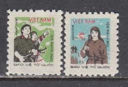 Vietnam 1982 - Army And Militia, Portofreiheitsmarken Mi-Nr. 37/38, MNH** - Viêt-Nam