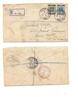 3280) IRLANDA EIRE 1932 DUBLIN REGISTERED COVER STAMPS TO USA - Storia Postale