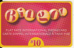CANADA  - Bingo Prepaid Card $10, Used - Canada