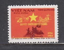 Vietnam 1984 - 30th Anniversary Of The Battle Of Dien Bien Phu, Portofreiheitsmarke Mi-Nr. 42, MNH** - Viêt-Nam