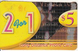 CANADA  - 2 For 1, Phonetime Prepaid Card $5, Used - Canada