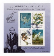 Bloc Feuillet YT BF18 1995 - J.J. Audubon Peintre Ornithologue Du 19ème Siècle Oblitéré - Oblitérés