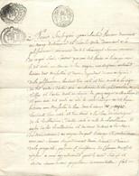 REAUMUR PLISSONIERE CHAMP DU PAYRE JEAN-CHARLES VEXIAU 1798 CACHET GENERALITE VENDEE - Manuskripte