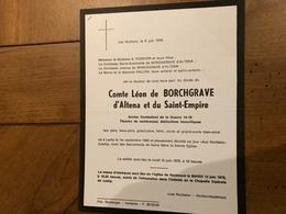 Comte Léon De Borchgrave D'Altena Et Du Saint-empire 14-18*1892 Lexhy +1978 Horion Hozemont Forster Fallon - Décès