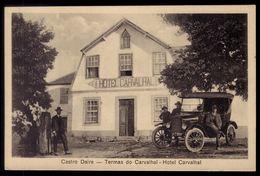 Postal Antigo HOTEL CARVALHAL Com Carro Antigo TERMAS CASTRO DAIRE. Old Postcard W/antique Automobile (Viseu) PORTUGAL - Lisboa