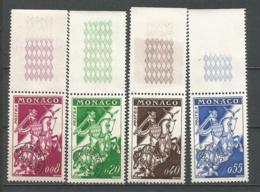 MONACO ANNEE 1960 PREOB. N°19 A 22 BORD DE FEUILLE NEUFS** MNH - Monaco