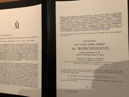 De Borchgrave Guy Capitaine Commandant *1907 Bruxelles +1949 Suites Accident En Service Ixelles D'Huart - Décès