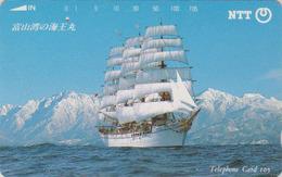TC JAPON / NTT 310-095 A ' - Bateau Voilier ** ONE PUNCH ** - Sailing Ship JAPAN Phonecard - Boats