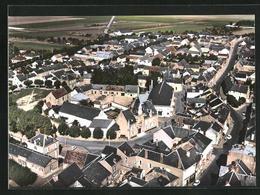 CPA Toury, Vue Generale Aerienne, Le Centre - France