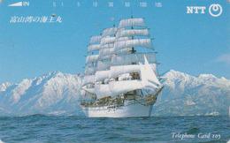 TC JAPON / NTT 310-095 B  - Bateau Voilier ** ONE PUNCH ** - Sailing Ship JAPAN Phonecard - Boats