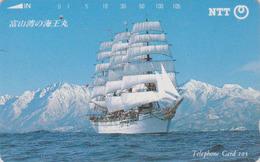 TC JAPON / NTT 310-095 B '  - Bateau Voilier ** ONE PUNCH ** - Sailing Ship JAPAN Phonecard - Boats