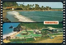 °°° 19184 - VENEZUELA - PLAYA DEL MAR CARIBE - 1990 With Stamps °°° - Venezuela