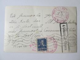 Rare! Romania/Ada Kaleh,1943 Oravita Censored Postcard With Rare Postmark:Village Ada Kaleh County Mehedinti Post Office - Roumanie