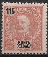 Ponta Delgada – 1898 King Carlos 115 Réis - Ponta Delgada