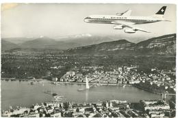 German Cargo DC-8 Frankfurt Airport 1984 Postcard Rppc Photo - 1946-....: Era Moderna