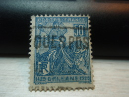 Timbre 1429 ORLEANS 1929  50 C - Y&T 257  Oblitéré Pub - Oblitérés
