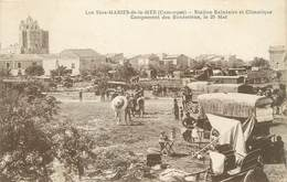 """/ CPA FRANCE 13 """"Les Saintes Maries, Campement Des Bohémiens"""" / GITAN - Saintes Maries De La Mer"""