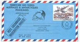 """TAAF - Aérogramme 5,70 Inauguration De La Piste... Pour Chili, Cad """"Dumont Durville 11/11/1994"""", Et Piste Endommagée ... - Entiers Postaux"""