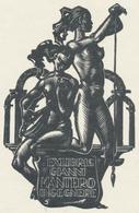 Ex Libris Gianni Mantero - Hedwig Zum Tobel (1922-1985) - Ex-libris