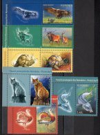 Romania 2009 / Protected Fauna From Romania / 6 Val + Labels - Nuevos