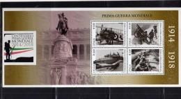 ITALIA REPUBBLICA ITALY REPUBLIC 2015 CENTENARIO PRIMA GUERRA MONDIALE BLOCCO FOGLIETTO BLOCK SOUVENIR SHEET MNH - 1946-.. République