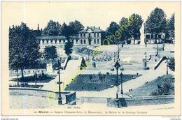 31. MURET . Square Clément Ader . Le MOnument . La Mairie Et Le Groupe Scolaire ; - Muret