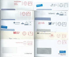 Ema Pitney Bowes Et Neopost _ Lot De 10 Enveloppes Entières - Poststempel - Freistempel