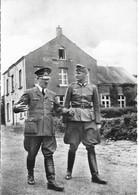 CPSM. MAI 1940. BRULY DE PESCHE (BELGIQUE/COUVIN/NAMUR). HITLER EN PROMENADE DEVANT LA MAISON COMMUNALE. - Guerre 1939-45
