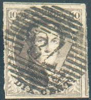 N°6 - Médaillon 10 Centimes Brun, TB Margé Et Voisin, Obl; P.78 MALINES Bien Nette - 15266 - 1851-1857 Médaillons (6/8)