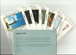 Lancement Fusée ARIANE V16 - 22/02/1986 - Pochette Lancement CNES - 8 Documents - CENTRE SPATIAL GUYANAIS - KOUROU - FDC & Gedenkmarken