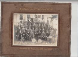 (PHOTO) AIN , PONT DE VEYLE FANFARE , Festival Du 13 Juin 1926 , Photo 17 Cm X 13 Cm - Other Municipalities