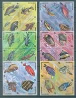 BURUNDI - 1974 - MNH/*** LUXE - POISSONS FISHES VISSEN - COB 615-638 - Lot 21368 - Burundi