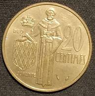 MONACO - 20 CENTIMES 1978 - Rainier III - KM 143 - 1960-2001 Nouveaux Francs