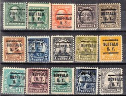 USA Precancel Vorausentwertung Preo, Locals New York, Buffalo L-5 E 24 Diff., Perf. 1 X 10x10, 16 X 11x11, 9 X 11x10 1/2 - Estados Unidos