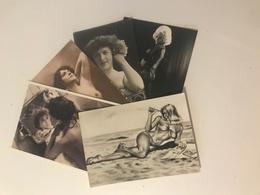 Lot De 5 Cartes Postales Anciennes  Femmes Avec Attitude Suggestive - Pin-Ups