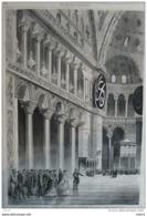 Voyage De L'Impératrice En Orient - Sa Majesté Visite La Mosquée De Sainte-Sophie à Constantinople - Page Original 1869 - Historical Documents